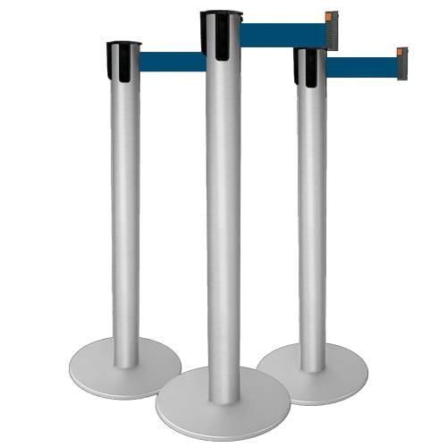Pedestal Organizador, Demarcador, Divisor Modelo Neon Alumínio fosco (cx. 3 unid.)