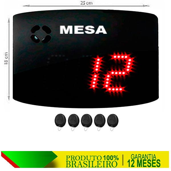 PAINEL ORIENTADOR DE FILAS S-25-GM MESA 24X18 CM COM CONTROLE SEM FIO