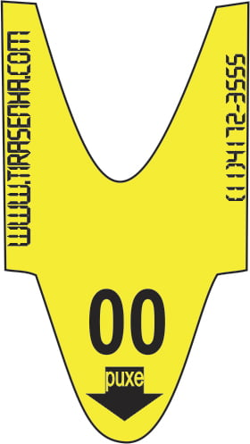 Rolo / Bobina de Senha Numerada Color 2 Dígitos de 00 a 99 com 2000 Senhas: Amarelo