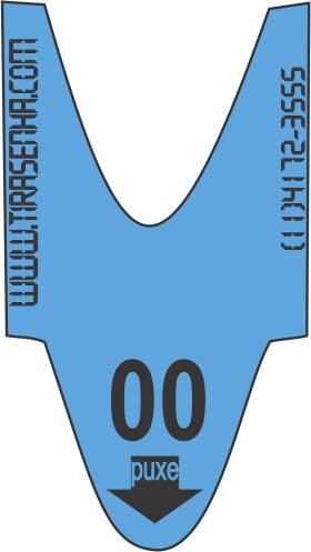 Rolo / Bobina de Senha Numerada Color 2 Dígitos de 00 a 99 com 2000 Senhas: Azul