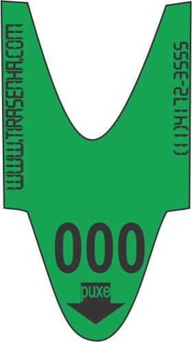 Rolo / Bobina de Senha Numerada Color 3 Dígitos de 000 a 999 com 2000 Senhas: Verde