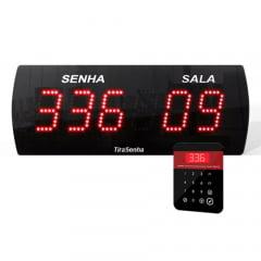 | ENTREGA EXPRESSA | Painel Eletrônico de Senha Digital SG-625 38x14 cm c/ Teclado digitador Fio para Consultório