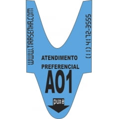 | ENTREGA EXPRESSA | Kit Rolo de senha ALFA NUMÉRICA 2 dígitos com 2000 senhas: 04 und. Atendimento PREFERENCIAL A-00 a A99 AZUL + 08 und. Atendimento COMUM C00 a C99 VERDE