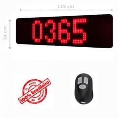 PAINEL LEDTIME XL  1464 - CONTADOR DE DIAS - 115X24  CM COM CONTROLE