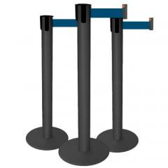 Pedestal Organizador, Demarcador, Divisor Modelo Neon Alumínio Preto (cx. 3 unid.)