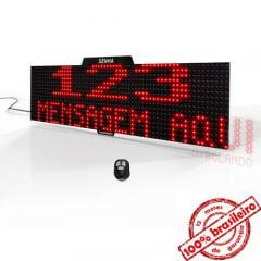 Painel Eletrônico De Atendimento Sequencial Senha 64X16 Cm Controle Sem Fio E Exibição De Mensagens
