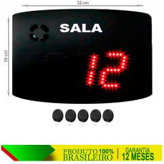 PAINEL ORIENTADOR DE FILAS S-25-GS SALA 24X18 CM COM CONTROLE SEM FIO