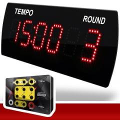 CRONÔMETRO / RELÓGIO DIGITAL LEDTIME LT-625 HORA/MINUTO C/ ROUND 38X14 CM COM CONTROLE G13 SEM FIO