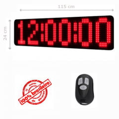 PAINEL LEDTIME XL 1464 - CRONÔMETRO HORA / MINUTO / SEGUNDO - 115X24 CM COM CONTROLE