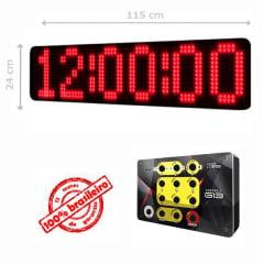 PAINEL LEDTIME XL 1464 - CRONÔMETRO HORA / MINUTO / SEGUNDO - 115X24 CM COM CONTROLE G13