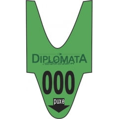 Rolo / Bobina de senha PERSONALIZADA pré impressa 3 dígitos 001 a 999 com 2000 senhas Cor: VERDE CX c/ 100 rolos