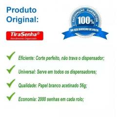 Rolo / Bobina de Senha Numerada 3 Dígitos de 000 a 999 com 2000 Senhas: PROMOÇÃO