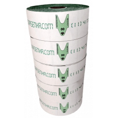Rolo / Bobina de Senha Numerada Color 2 Dígitos de 00 a 99 com 2000 Senhas: Verde