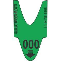 Rolo / Bobina de Senha Atendimento Numerada Colorida 3 Dígitos de 000 a 999 com 2000 Senhas VM